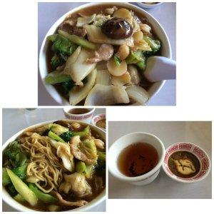 Soft Won ton Mein with Vegetables in Gravy