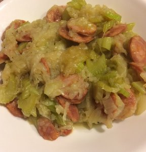 Onion, Celery, and Portuguese Sausage