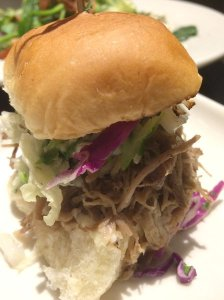 Kalua Pork Slider - stratified view