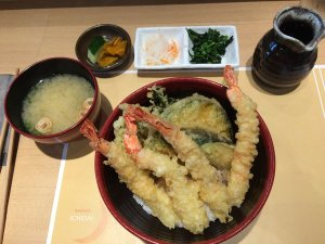 Shrimp Tempura Donburi Set