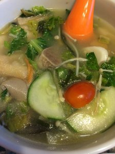 Vegetable Soup with Mochi Rice Cake