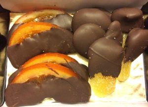 Dark Chocolate Candied Orange and Ginger