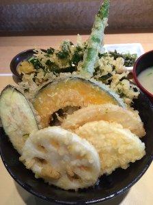Vegetable Tempura Donburi