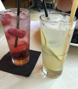 The Cat's Raspberry Italian Soda The Mouse's Ginger Lime Cooler