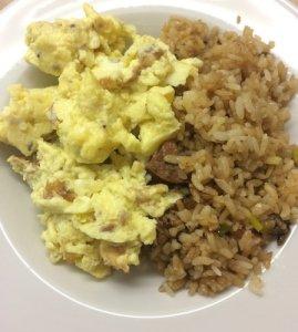 Scrambled Eggs, Fried Rice