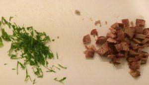 Chopped Green Onions Chopped Smoked Tuna