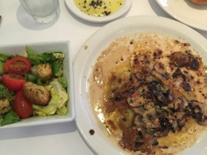 Mushroom Ravioli with Side Salad