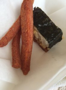 SPAM Musubi and SPAM Fries