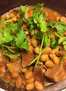 Beer Braised Miso Pork with Peanuts