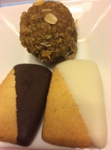 Mini Oat Cake Lemon Shortbread Cookies
