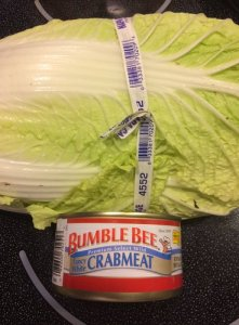 Napa Cabbage Can of Crabmeat