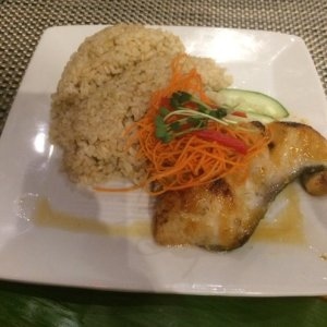 Miso Butterfish with Brown Rice