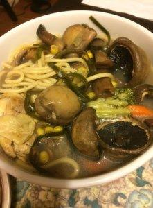 Mushroom Chicken Pasta Soup