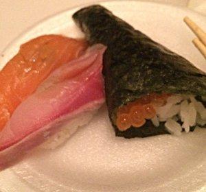 Sake, Hamachi Nigiri, Ikura Roll