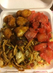 Take out from AJ's Chinese Fast Food