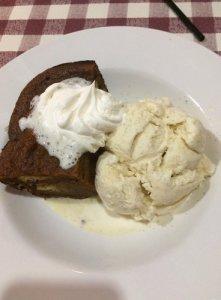 Pumpkin Bread Pudding with Vanilla Bean Ice Cream