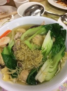 Won Ton Mein with Vegetables