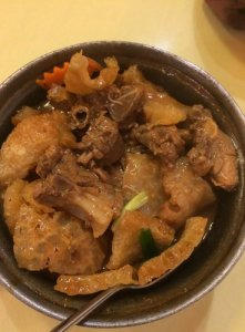 Duck and Dried Pork Skin Pot