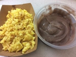Scrambled Eggs and Fresh Poi