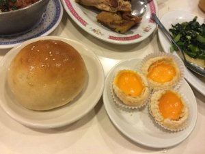 Baked Red Bean Bao and Egg Tarts