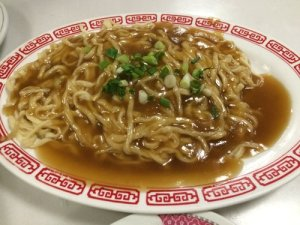 Chinese Egg Noodles with Gravy