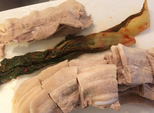 Blanched Pork Belly, Kimchi