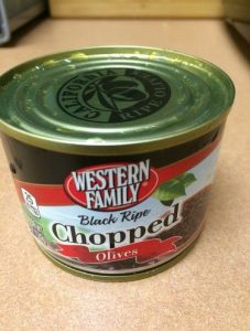 Tin of Chopped Olives